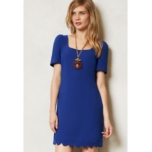 Anthropologie Leifsdottir Blue Arana shift dress